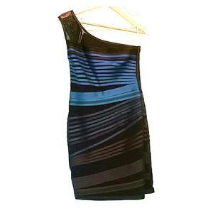 Sleek one shoulder dress